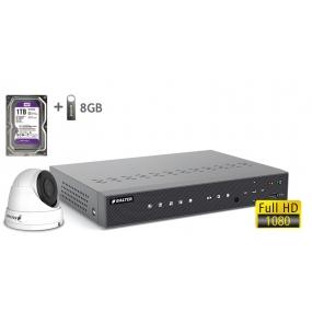 BALTER АHD комплект для видеонаблюдения, 4-кан DVR с 1TB, 1x 2MP камера с ИК,  1x18m кабель