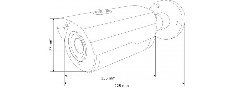 BALTER 5.0MP IP видеокамера, 2.8-12мм motorzoom, 2592x1944p, ИК 45м, H.265, WDR, VCA, P2P, PoE/12V DC, IP66