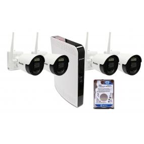 BALTER IP беспроводной комплект для видеонаблюдения, 8-кан DVR с 500 Гб, 4x 2MP наружные аккумуляторные WiFI камеры с ИК