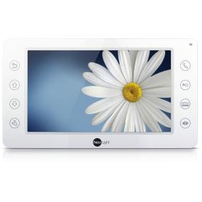 """7"""" видеодомофон, сенсорные кнопки, встроенные mp-3 мелодии вызова, открывание ворот, встроенный БУЗ, 4 видеовхода"""