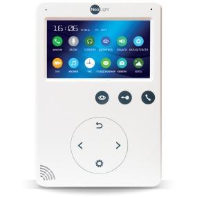 """4.3"""" видеодомофон, сенсорные кнопки, матовый ультратонкий корпус, встроенные mp-3 мелодии вызова, встроенный БУЗ, 4 видеовхода"""