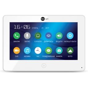 """7"""" видеодомофон c сенсорным экраном, встроенная память, запись видео по движению со звуком, ультратонкий"""