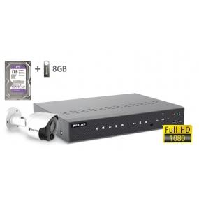 BALTER АHD комплект для видеонаблюдения, 4-кан DVR с 1TB, 1x 2MP наружная камера с ИК,  1x18m кабель